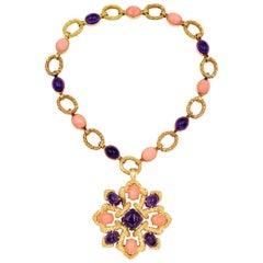 Van Cleef & Arpels Coral or Amethyst Necklace, Brooch or Bracelet