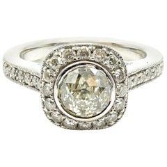 """1.06 Carat """"Crown of Light"""" Diamond 14 Karat White Gold Engagement Ring"""