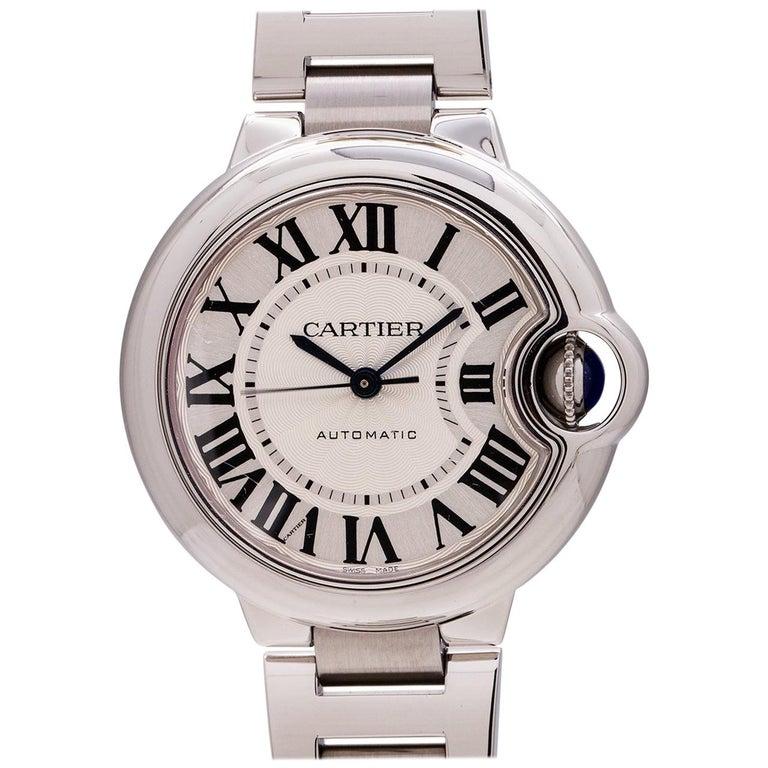 Cartier Ladies Stainless Steel Ballon Bleu Midsize Automatic Wristwatch, c2000s