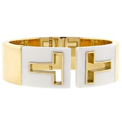 Tiffany & Co. T Cutout Cuff Bangle Bracelet