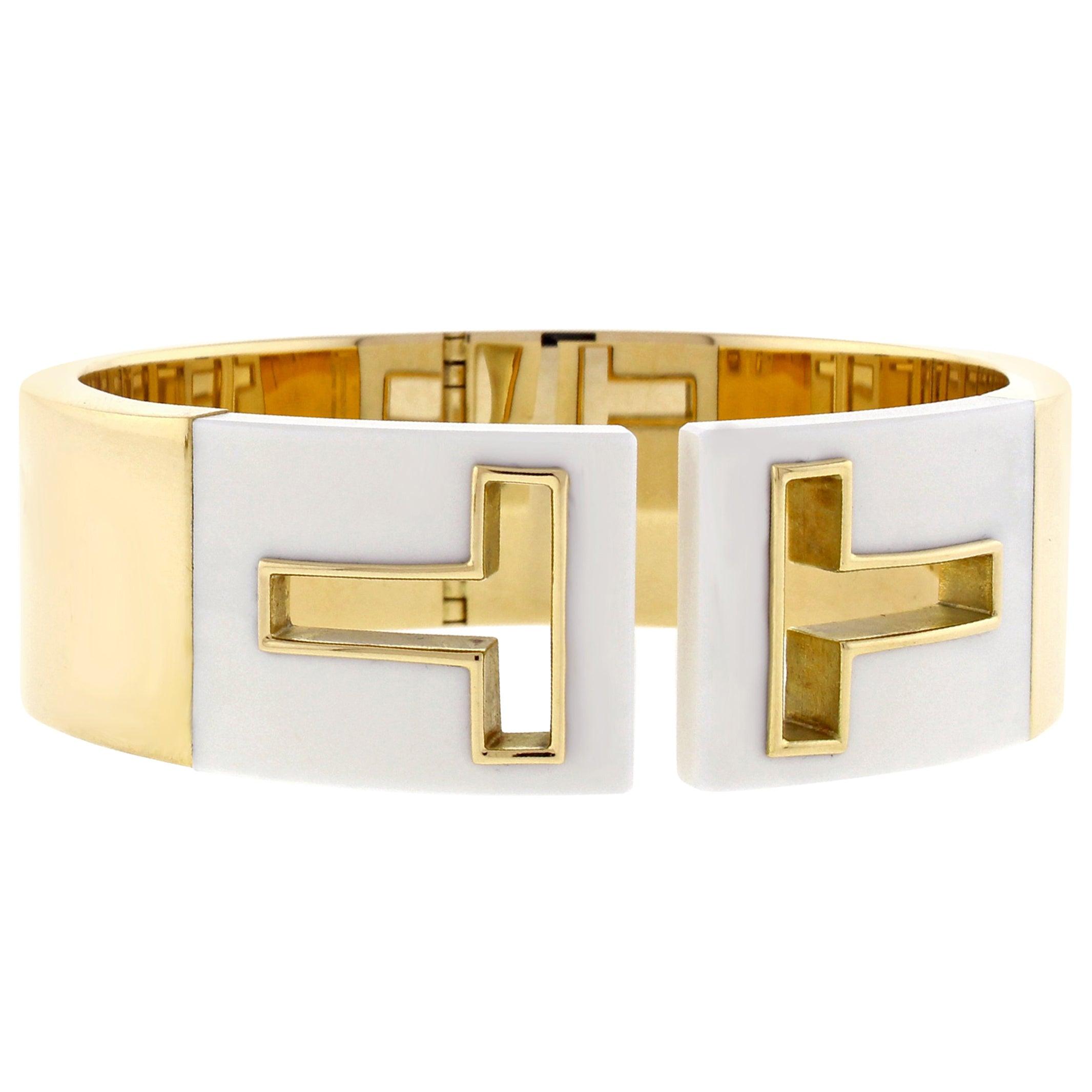 e92d5b4f2 Tiffany and Co. T Cutout Cuff Bangle Bracelet at 1stdibs