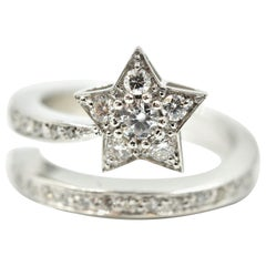 Round Diamond Star Double Band Ring
