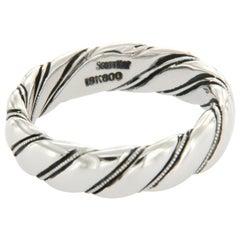 Scott Kay 19 Karat White Gold Men's Wedding Band Ring