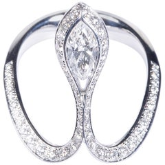 GIA Certified 0.50 Carat Marquise Diamond Royale Ring