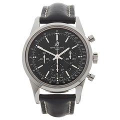 Breitling Transocean Chronograph Stainless Steel AB015212