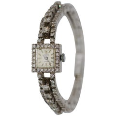 18 Karat White Gold Ladies Watch Set with Countless Diamonds