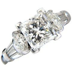 GIA Certified 4.77 Carat Princess Cut Diamonds Ring G/SI-1 Platinum Classic
