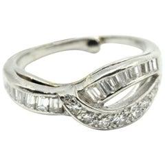 0.50 Carat Baguette Cut Diamond Fashion Band Platinum