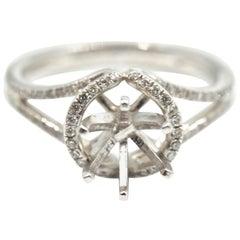 0.24 Carats Diamond 14 Karat White Gold Semi-Mount Engagement Ring