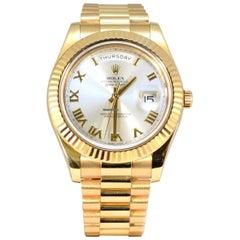 Rolex President Day Date II 18 Karat Yellow Gold Automatic Wristwatch