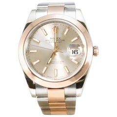 Rolex Datejust II 41MM Everose and Stainless Steel Wristwatch