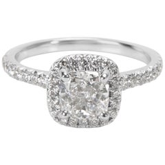 James Allen GIA Certified Diamond Ring in 14 Karat White Gold 1.34 Carat