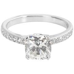 Tiffany & Co. Novo Cushion Diamond Engagement Ring in Platinum I/VS1 1.51 Carat