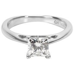 GSL Celebration Princess Cut Diamond Engagement Ring in 18K White Gold ( 1 CTW)