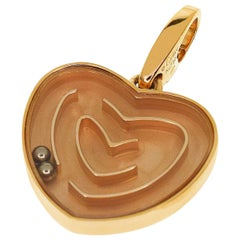 Cartier 18 Karat Rose Gold Labyrinth Heart Motif Charm