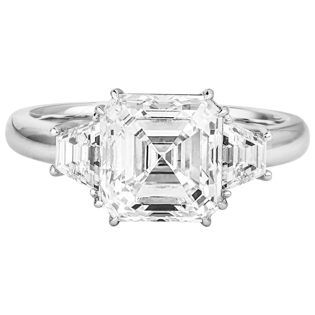 GIA Certified Asher Cut Diamond Ring 3.58 Carat