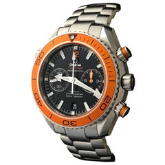 Omega Stainless Steel Seamaster Planet Ocean Co-Axial Automatic Wristwatch
