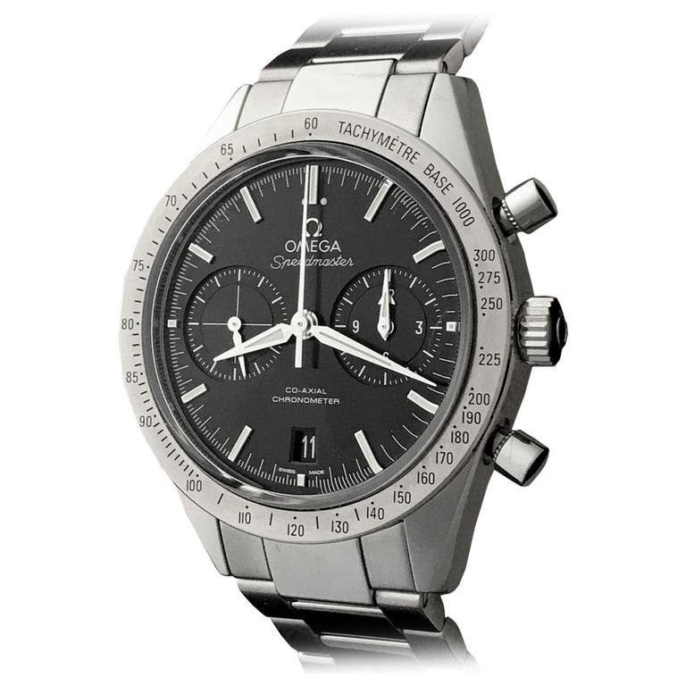 Omega Stainless Steel Speedmaster Chronograph Co-Axial Automatic Wristwatch
