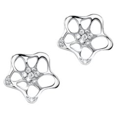 Fei Liu 18 Karat White Gold Small Unit Stud Earrings
