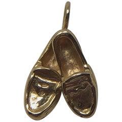 Vintage 14 Karat Solid Gold Penny Loafer Pendent Charm