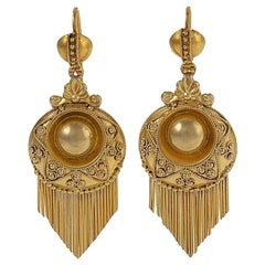 Victorian Gold Fringe Earrings