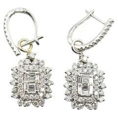 Diamond Drop Huggie Earrings
