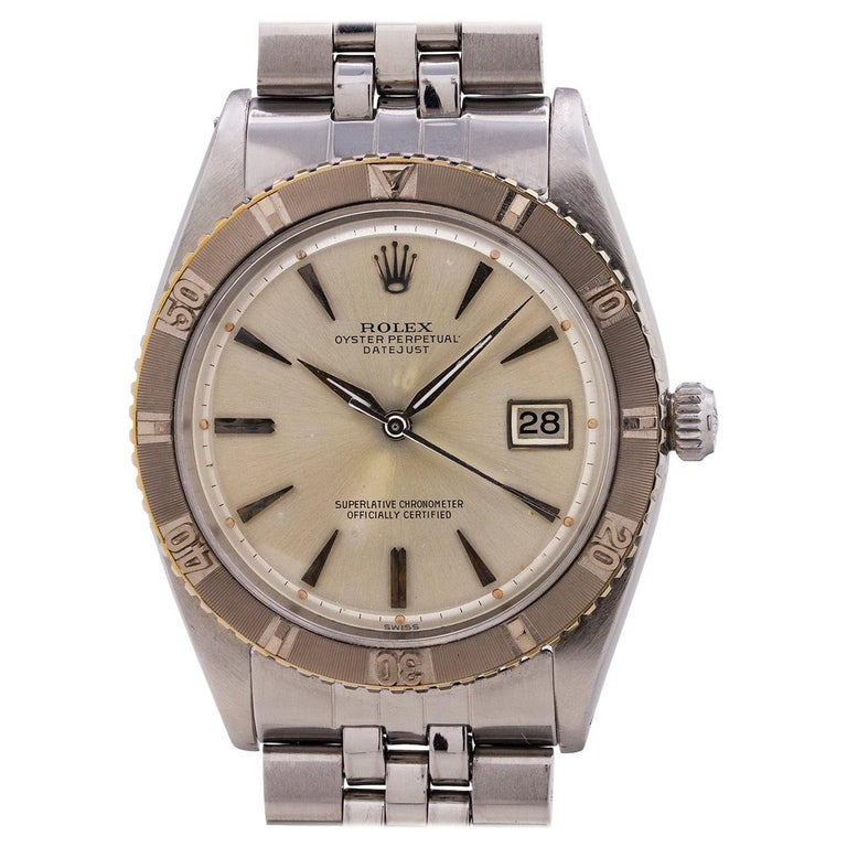 Rolex White Gold Stainless Steel Turn-O-Graph self-winding wristwatch, c1961