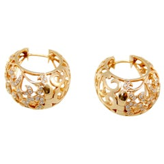 Arabesque Collection Pink Gold 0.85 Carat Diamonds Earrings
