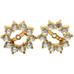 Diamond Earring Jackets 14 Karat Yellow Gold