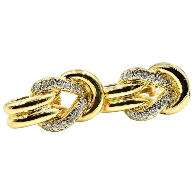 Diamond Earrings 18 Karat Yellow Gold