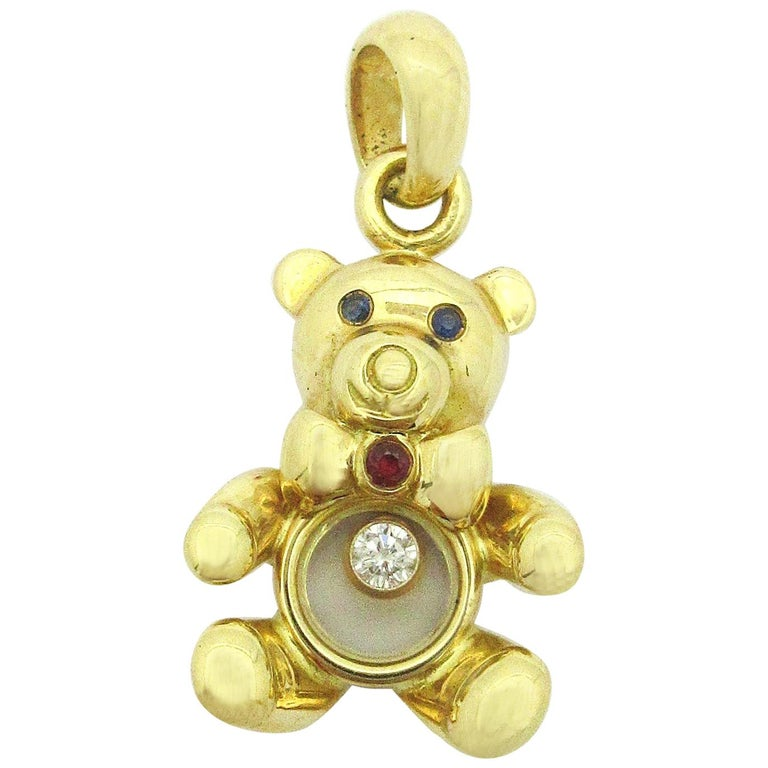 Chopard Luc Teddy Bear Happy Diamond Pendant