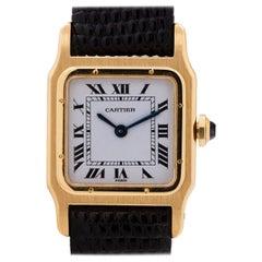 Cartier Yellow Gold Santos Manual Wind wristwatch, circa 1970s