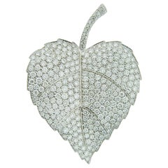 Diamond Pin/Brooch in 18 Karat White Gold