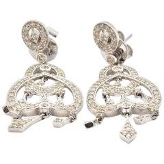 18 Karat White Gold Chandelier 1.75 Carat Diamond Earrings