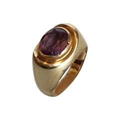 Gold Ring with Amethyst 14 Karat