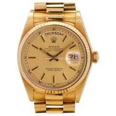 Rolex Yellow Gold Day Date President self-winding wristwatch Ref 18038, c 1981