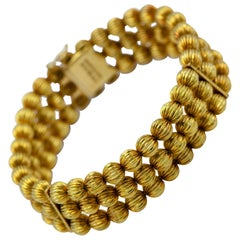 Ilias Lalaounis 18 Karat YG Gold Bead Bracelet Marked Greece