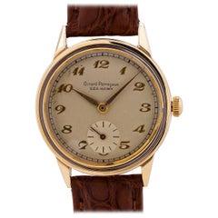 Girard Perregaux Yellow Gold Stainless Steel Sea Hawk manual wristwatch, c1940s