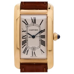 Cartier Ladies White Gold Tank American quartz wristwatch, circa 1990s