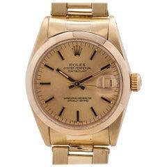 Rolex yellow gold Midsize Datejust quartz wristwatch Ref 6827, circa 1981