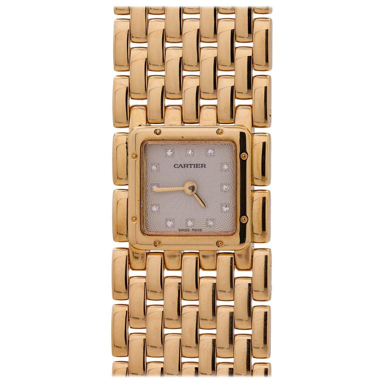 Cartier Ladies yellow gold Panthere Ruban quartz wristwatch, circa 2000s