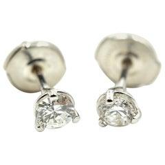 Round Brilliant Diamond Stud Earrings