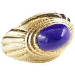 Boucheron Lapis Gold Dome Ring