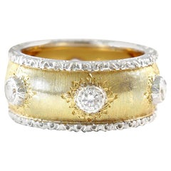 Buccellati Diamond Gold Platinum Band