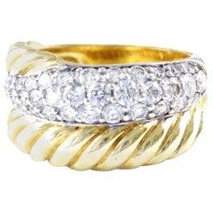 David Yurman Diamond Gold Ring