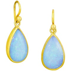Stephanie Albertson Australian Opal and 22 Karat Gold Drop Earring