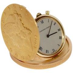 Audemars Piguet 18 Karat Yellow Gold Coin Watch 1904 Twenty Dollars 20$