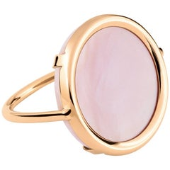 Mother-of-Pearl and Rose Gold 18 Karat Fashion Ring