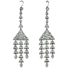 Paste Earrings Long Silver