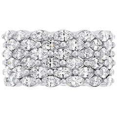 Marquise Diamond Wide Eternity Band